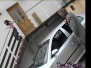 Michelle pounded on the fetish mask of a car