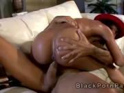 Young Hillary Banxx enjoys big black dong in black porn parody
