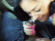 Amazing Blowjob from a Stranded Hitchhiker