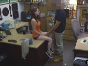 Babe in glasses fucked by nasty pawn guy