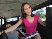 Skinny latina fucked in the van