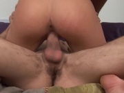 Sexy girl hides two cocks in her holes