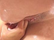 Lesbians licking each others hairy pussies