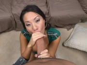 Hot asian getting her tight pussy fucked loose