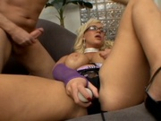 Big titted milf enjoys a cock in her ass