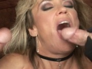 Mature hottie gets her moist pussy and ass fucked
