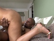 Hot mom poked by black cock in the ass