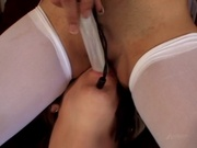 Naughty schoolgirls having oral sex