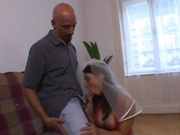 Newly wed euro chick gets fucked