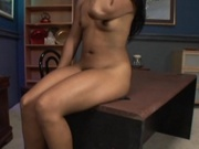 Asian hottie takes anal punishment from black cock