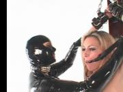 BDSM slave gets pussy fucked in chains