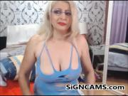 Blonde Sexy Mature With Big tits