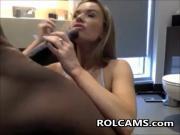 Sucking Big Black Cock On Webcam