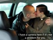 Taxi driver in threesome with couple