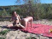 Outdoors swingers sex on a beach