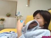 Japanese milf exposes dildo talents on camera
