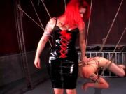 BDSM amateur dude tortured in ropes
