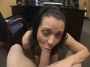Amateur cutie sucking and fucking her boss