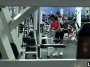 Petite Latina amateur fucks after her workout at gym