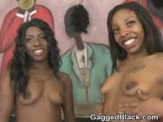 Black Sluts Spit Up On Each Other During Face Fucking