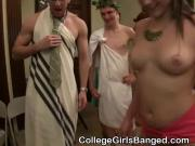 Lovely College Titties And Asses Squeezed At Toga Party
