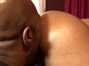 Chubby ebony girl sucking and fucking boyfriend