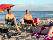Busty brunette teen webcam Beach Bait And Switch