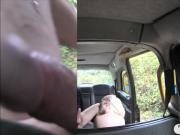 Small tits woman assfuck by the driver