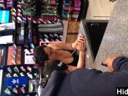 Busty Latina At A Sports Store