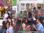 College Girls Handling Frat Boy Cocks At Blowjob Party