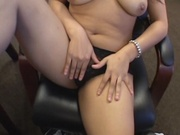 Fleshy latina gets fucked in the office