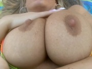 Hot chick with big breasts tit fucked