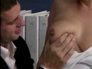 Boss tells secretary what she needs to let him do