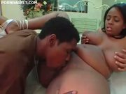 Big ass black girl pussy pounded and facialized