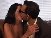 Hot brunette cheating on her husband