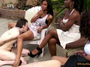 Femdom ebony ladies and white slaves