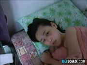 Korean Girl Giving Her BF Head