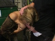 Big titted chick fucked in the gang teritory