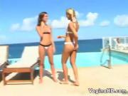 Hot Lesbians In Bikinis Outside