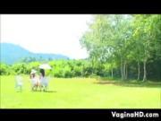 Japanese Lesbians At A Park