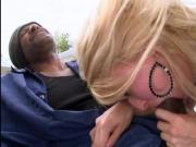 Sadie Sable in interracial anal gangbang