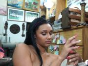 Brunette sweetie gets drilled doggystyle