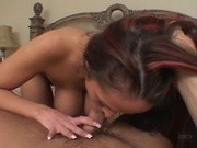 Cute girl giving a wonderful blowjob