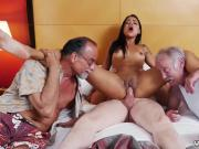 Old guy eats pussy Staycation with a Latin Hottie