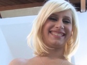 Petite blonde rides a cock like a pro