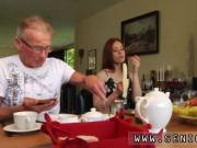 Hot redhead masturbates Minnie Manga eats breakfast with John and