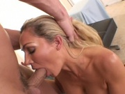 Hot chick throat and pussy fucked