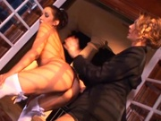 Secretary having sex with her lesbian boss