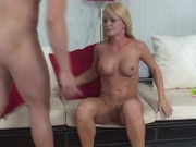 Petite blonde milf shagging in doggy position