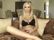 Lovely blonde performs a hot solo